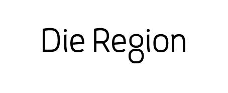 Schriftzug Die Region