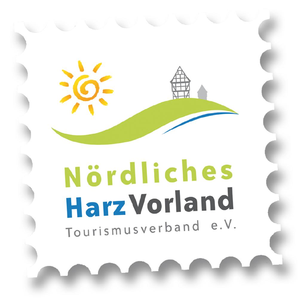 Logo in Form einer Briefmarke des Nördlichen Harzvorlandes